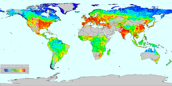 Global estimate of threats to river biodiversity (Credits riverthreat.net)