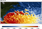 Animation de topographie dynamique absolue MADT Gulf Stream 2012-2013